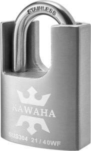 KAWAHA Stainless Steel Shrouded High Security Padlock