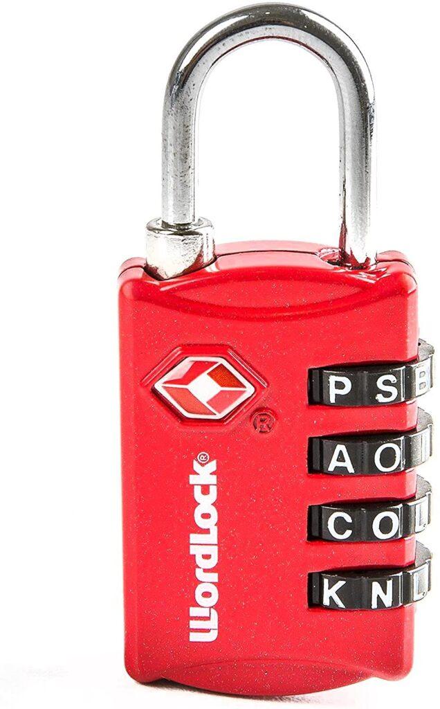 Wordlock LL 206 RD TSA Approved Combination Luggage Lock